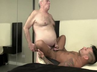 mature daddy has sex with latin twink