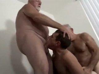 two daddies fuck their boy