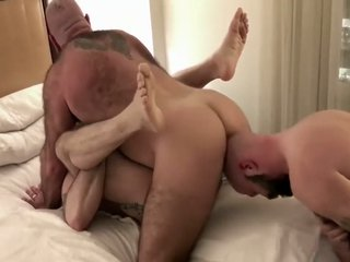Mickey gets DPed by daddy and son