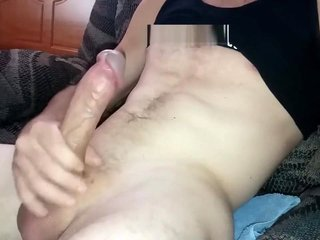 Lubed Jackoff in The Living Room While My Roomate Is At Work PT1